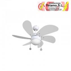 VENTILADOR BLANCO DELFIN 6 ASPAS BLANCAS 1XE14 77 D