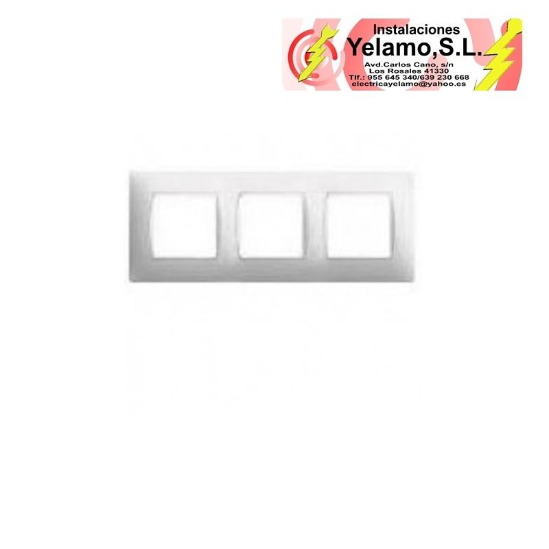 Marco 3 elementos simon 27 play blanco instalaciones - Simon 27 blanco ...