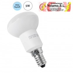 BOMBILLA LED 5W E-14 ESCAPARATE R-50 6400K