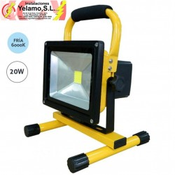 PROYECTOR LED 20W BATERIA IP-65 6000K