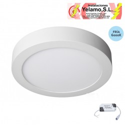 DOWNLIGHT LED 18W REDONDO SUPERFICIE BLANCO 6000K