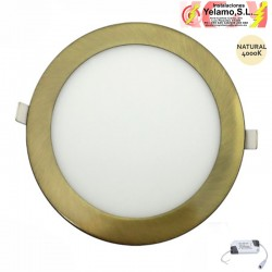 DOWNLIGHT LED 12W REDONDO EMPOTRAR COBRE  6000K