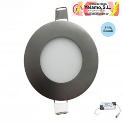 DOWNLIGHT LED  5W REDONDO EMPOTRAR NIQUEL  6000K