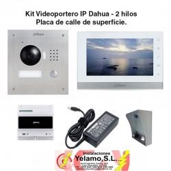 KIT VIDEOPORTERO IP DAHUA 2 HILOS  VTKB-2000A-1550C-2-S