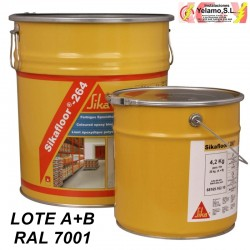 SIKAFLOOR 1264 RAL 7001 PAVIMENTO DE RESINA LOTE A+B 20KG
