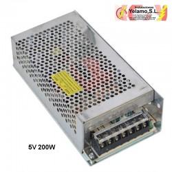 TRANSFORMADOR TIRA  LED 200W 5V
