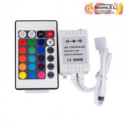 CONTROLADOR TIRA LED RGB CON MANDO