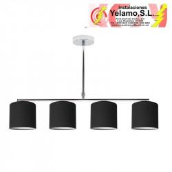 LAMPARA PLANETARIO CROMO/NEGRO 4XE14 (54X61)