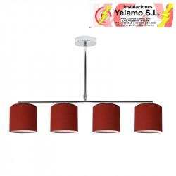 LAMPARA PLANETARIO CROMO/ROJO 4XE14 (54X61)